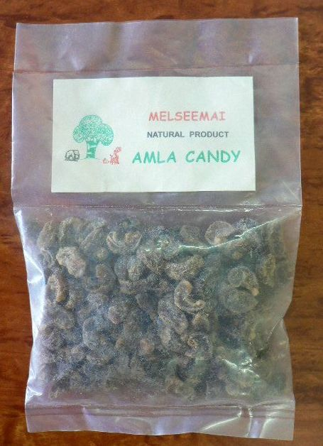 <b>AMALAKI CANDY- WHOLE FRUIT</b><br>KEY - Emblica Officinalis<BR>AMLA / NELLIKAI CANDY IN PIECES<BR>ORGANIC AND WILD<br>50 grs